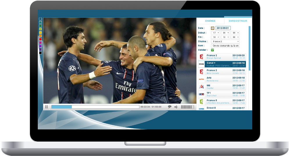 Solutions: IPTV Corporate GUI for PC